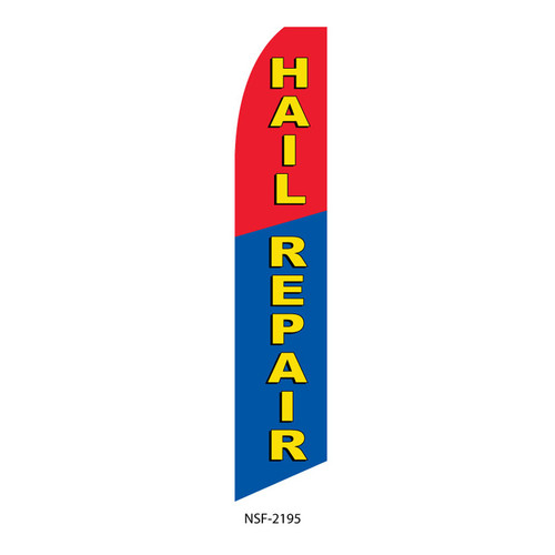 Hail Repair Feather Flag