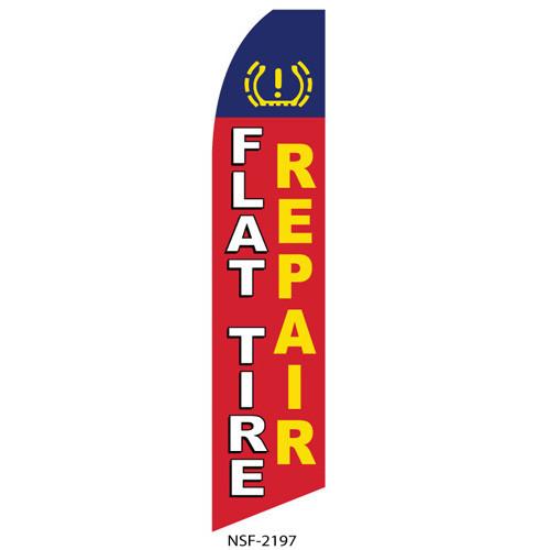 Flat Tire Repair Feather Flag