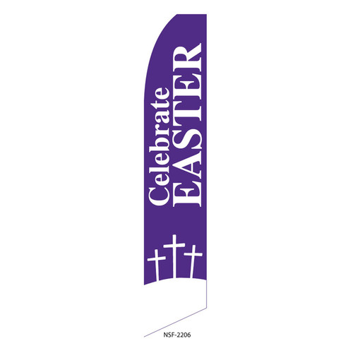 Celebrate Easter Feather Flag