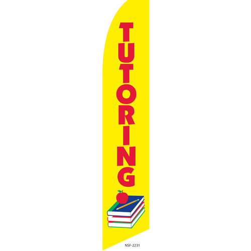 Tutoring Feather Flag