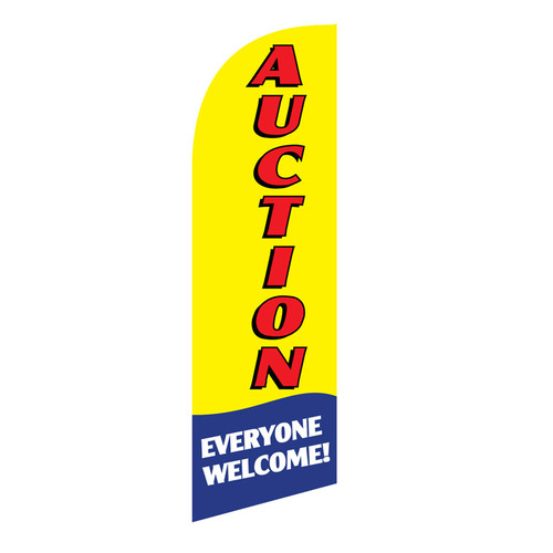 Auction 6ft Feather Flag yellow