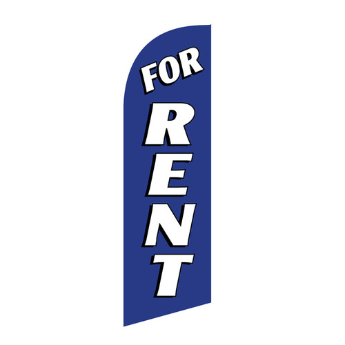 For Rent 6ft Feather Flag blue