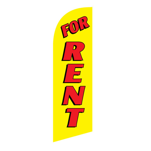 For Rent 6ft Feather Flag yellow