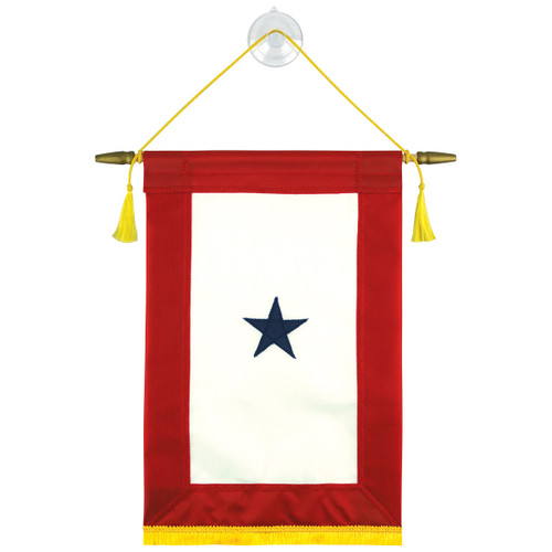 Blue Star Service Banner (Sewn)