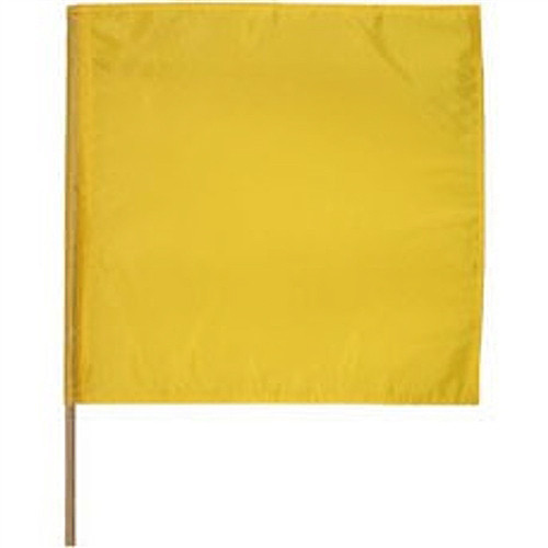 """Caution Motorcycle Race Flag 30"""" x 30"""""""