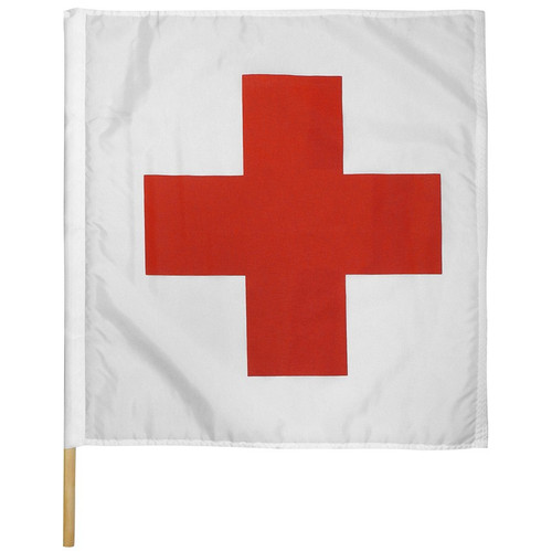 "Ambulance Motorcycle Race Flag 30"" x 30"""