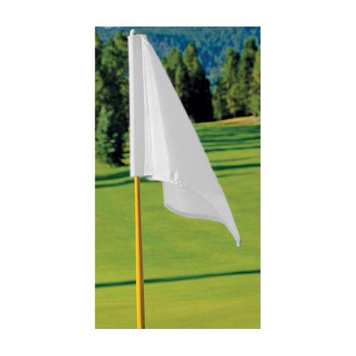 White Golf Flag