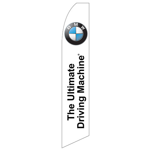 """The Ultimate Driving Machine"" (BMW) Feather Flag"
