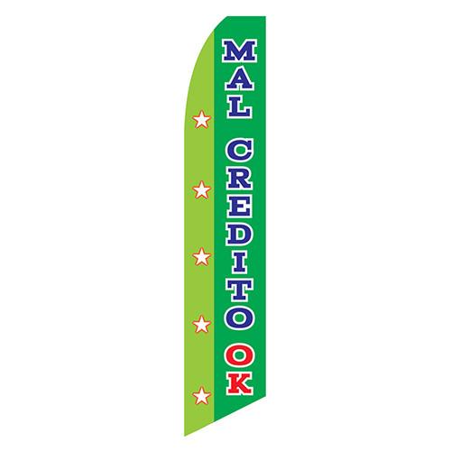 Mal Credito OK Feather Flag