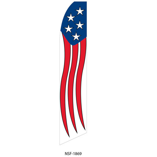 Waving Stars and Stripes Feather Flag