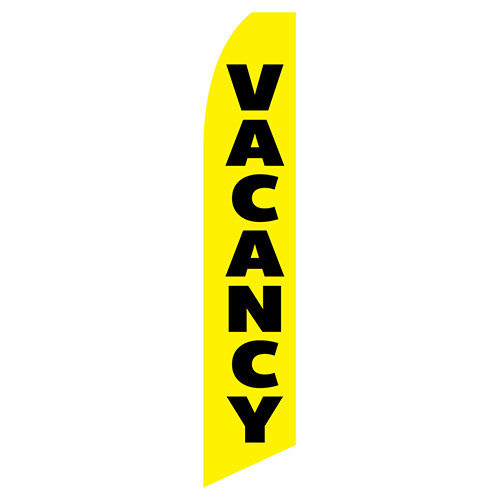 Vacancy Feather Flag blue