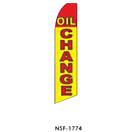 Oil Change (red and yellow) Feather Flag