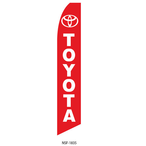 Toyota (red background) Feather Flag