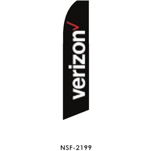 Verizon (black background) Feather Flag