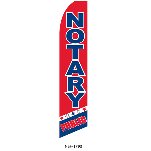 Public Notary Feather Flag