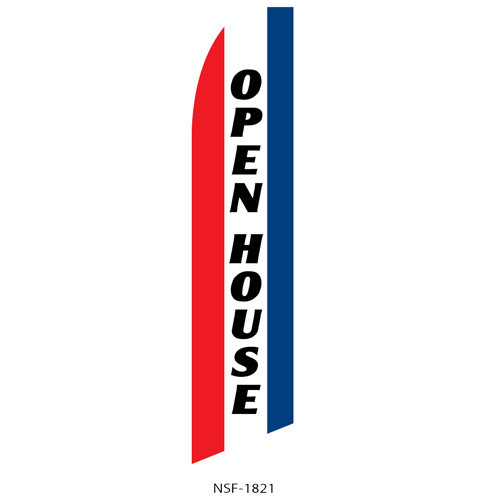 Open House (patriotic) Feather Flag