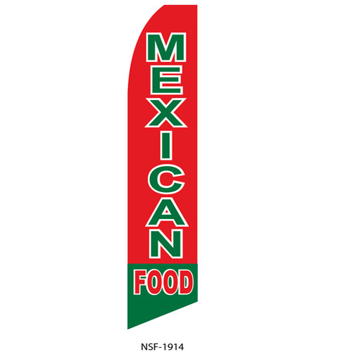 Mexican Food Feather Flag