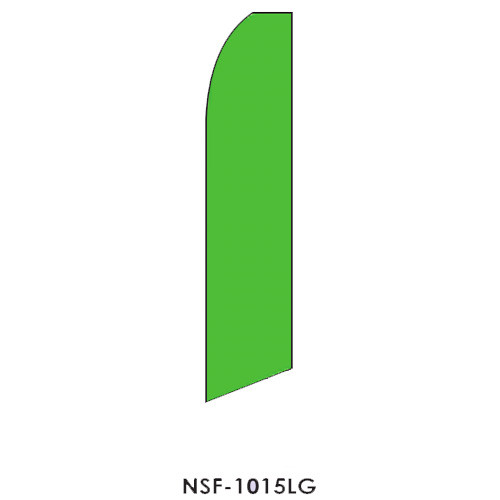 Light Green Feather Flag