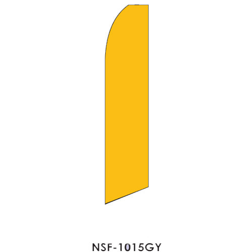 Goldenrod Yellow Feather Flag