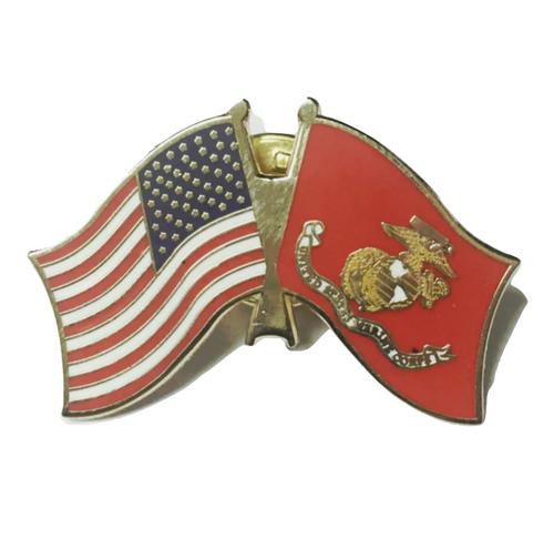 Marine - U.S. flag lapel pin