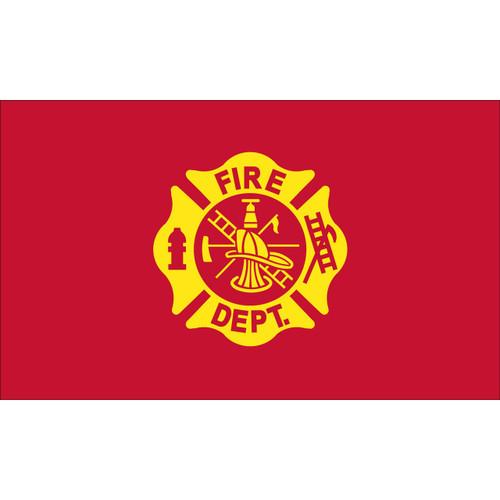 FIRE DEPARTMENT LOGO 3x5 Lightweight Flag