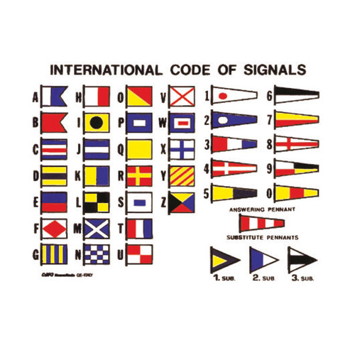 Complete Set - International Code of Signals (with Brass Snaps & Rings)