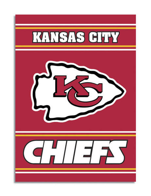 Kansas City Chiefs 2-Sided 28 X 40 House Banner