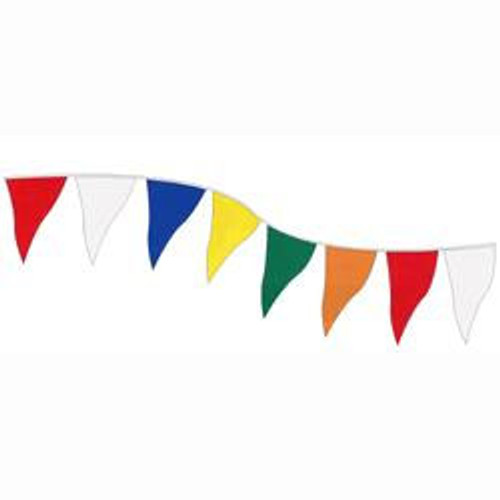 Polyethylene Assorted Colors String of Large Pennants