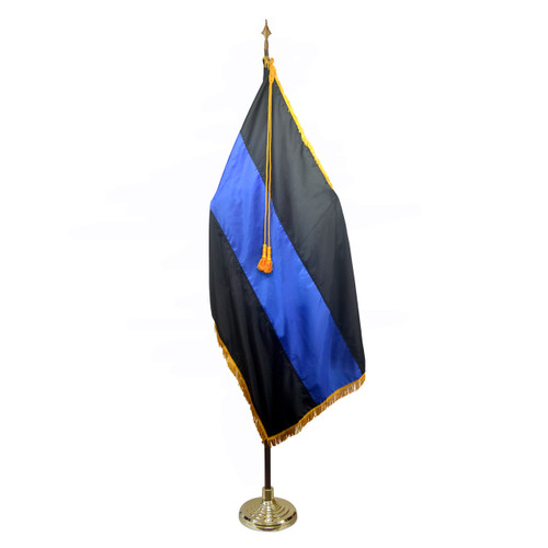 Thin Blue Line 4 x 6 Foot Indoor/Parade Flag Kit