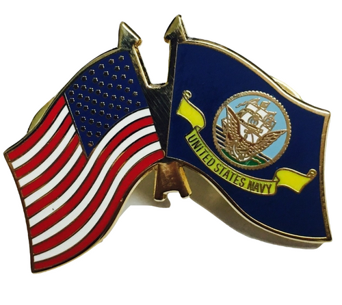 Navy / US flag lapel Pin