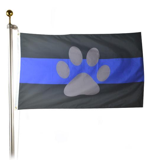 K 9 Thin Blue Line Flag Size 3 X 5 Ft Feet Police Dog Flag