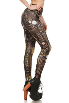 Right Side Image of DP-1625KDK - Wholesale Premium Graphic Leggings