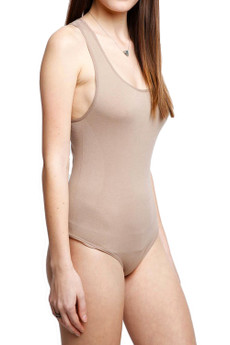 Right Side Image of Wholesale Basic Nylon Spandex Bodysuit