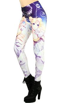 Wholesale Graphic Princess Moon Leggings