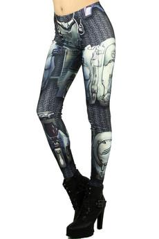 Wholesale Graphic Robotic Armor Leggings