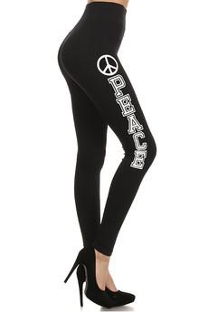 High Waisted Peace Contour Leggings