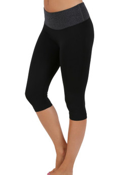 Wholesale Contrast Basic Women's Workout Capri
