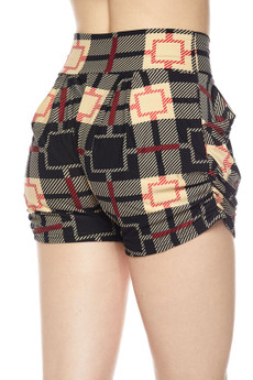 Wholesale Buttery Soft Moda Squares Harem Shorts