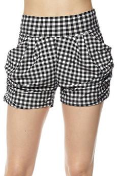 Wholesale Buttery Soft Mini Squares Harem Shorts