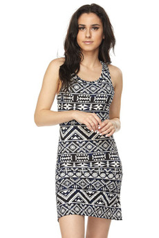 Wholesale Buttery Soft Tribal Cross Back Dress