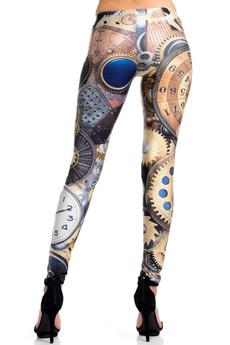 Wholesale Premium Graphic Print Precision Steampunk Leggings