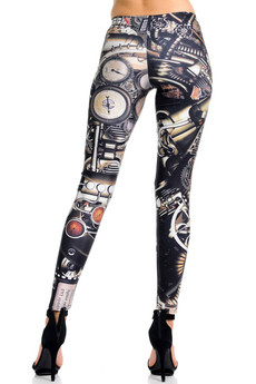 Wholesale Premium Graphic Print Moxie Steampunk Leggings
