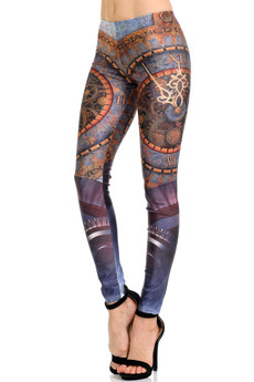 Wholesale Premium Graphic Print Romanus Steampunk Leggings