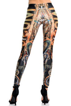Wholesale Premium Graphic Print Music Steampunk Leggings