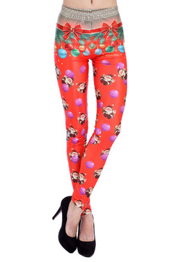 Front side image of DP-1280KDK - Wholesale Premium Graphic Leggings