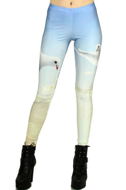 Front side image of Wholesale Premium Graphic Dove Leggings