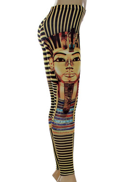 Side Image of P-4599 - Wholesale Made in the USA Graphic Print Leggings