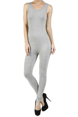 Front side image of Wholesale Women's Basic Cotton Jumpsuit