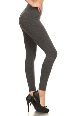 Right Side Image of 7L21 - Wholesale Premium Basic Seamless Leggings