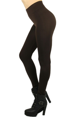 Left Side Image of Wholesale Basic Spandex Full Length Leggings
